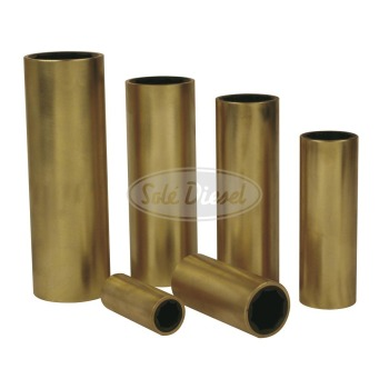 Neoprene-bases bearing with brass cover.