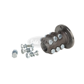 SG iron clamp-on couplings.