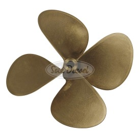 2-, 3-and 4- blades manganese bronze propellers, statically and dynamically balanced, 1:10 tapered (except propellers Ø19,3º30´).