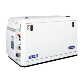 The 20 GS/GSC is a single phase marine generator set assembled on a 4 cylinder Mitsubishi block that performs 20,1 kW - 20,1 kVA at 1500 rpm and 50 Hz.